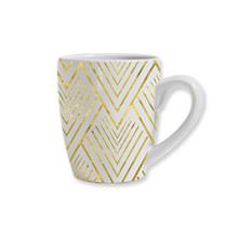 黄色の波状ライン マグカップ