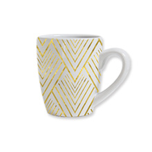 Yellow wavy Line Mug
