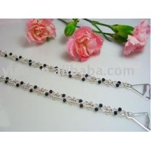 beads metal bra straps