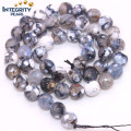 Dragon Veins Agate Beads Taille 6 8 10 12mm Facted Cracked Agate Loose Gemstone Beads