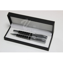 Black Blank Metal Pen Set Nome impresso Pen