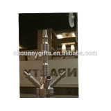 hot selling premium stainless steel and glass shisha