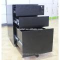 Classeur mobile de structure de KD / classeur noir sous le bureau