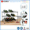 Mini Adjustable Chrome Wire Metal Tabletop Wine Rack Wholesale Price