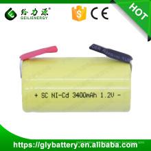 GLE ni-cd batería sub c batería 1.2v 3400mah nicd sc batería recargable