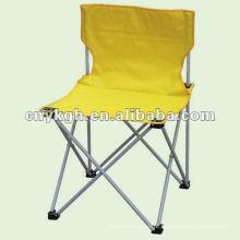 Cadeira de acampamento sem braços dobrável amarela
