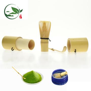 Travel Mini Whisk Utensil Bamboo Canister Tea Set