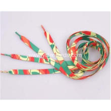 Custom Printed Flat Polyester Shoelaces For Sneaker