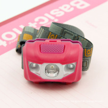 Poppas-T16 4 Mode Waterproof Ipx6 1W White LED +2 Red SMD LED Light Headlamp for Bicycle Outdoor Spoot Fish Runnuing