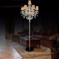 Beautiful Standing Chandelier Floor Lamp Golden Teak Crystal 20071