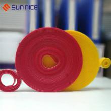 Fita de fixação reutilizável duplo lado gancho laço laço cinta de rolo