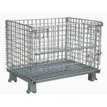 Warehouse Storage Steel Wire Mesh Roll Container with Wheels