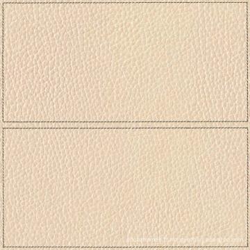 Cuir beige avec armature décoration rustique carrelage