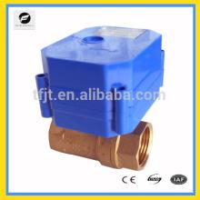 Válvulas eléctricas del cotrol del ángulo bidireccional DC9-24V con 0,30,60,90 grados para el equipo de irrigación, equipo del agua potable