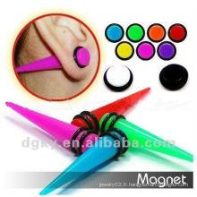 Vente en gros Acrylique UV Fake Ear Tapers Plaques magnétiques