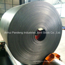 Cinta transportadora resistente a la llama de la minería del carbón con canal textil Pvg