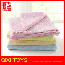 100% Polyester rosa bedruckte Fleece Babydecken Großhandel