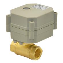 Actuador de RoHS Válvula controlada motorizada Válvula de cobre amarillo eléctrica del OEM de la manera 2 (T10-B2-C)