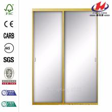 48 po x 81 po. Asprey Bright Gold Mirror Aluminium Encadré Porte coulissante intérieure