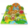 Wooden 3D Puzzle with Zoo Animals