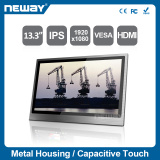 "NEW 13.3"" Embedded Full HD 1920x1080 IPS Projective Capactive Touch ultra slim flat monitor"
