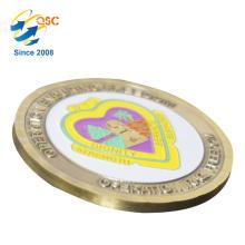 O fornecedor feito sob encomenda antigo feito sob encomenda da moeda do vintage 3D por atacado projeta suas próprias moedas antigas do chapeamento