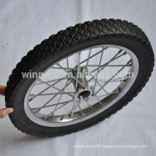 16 inch steel rim solid rubber wheel for trailer truck