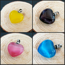 Hot Glass Heart Ash Cremation Jewelry