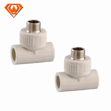 M&F thread PPR pipe fitting tee
