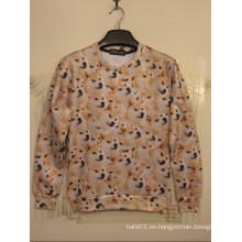 Allover Huskie suéter para la manga larga de otoño