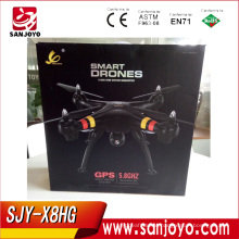 SJY-X8HG GPS drone with Headless smart Fly RC Quadcopter 5.8G screen FPV version