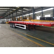"3-Axle Flat Bed Semi Trailer for 40""container"