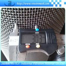 Malla de alambre cuadrada de apertura de 0.6mm-40mm