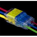 Connecteur à fil rapide à deux voies pour éclairage LED