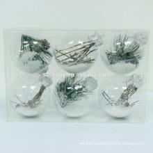 Bola plástica clara llevada de la Navidad del ANIMAL DOMÉSTICO con las luces