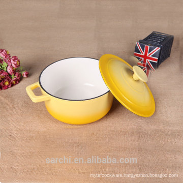 Household Enamel Cookware Cast Iron Casserole Pot With Lid