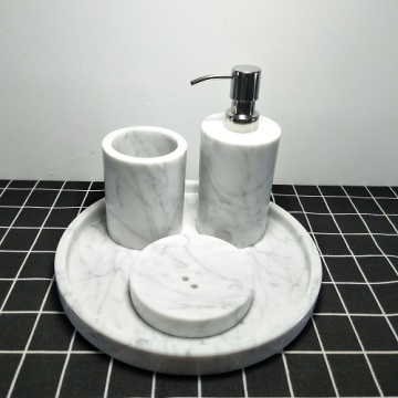 marble bathroom accessories set