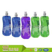 Top Quality Custom Printed Portable Reusable Spout Drink Packaging Folding Plastic Water Bottle Pouch / Bag