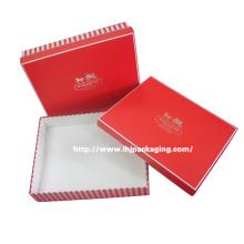Caja de papel de regalo de cartón cosmético de gama alta con estampado de plata