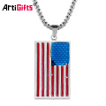 Wholesale custom metal country flag dog tag necklace printer maker
