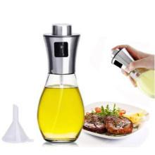 New Product Capacity Kitchen Cooking Oil Bottle Spray Vinegar Glass Bottle Stainless Steel Olive Oil Sprayer Bottle