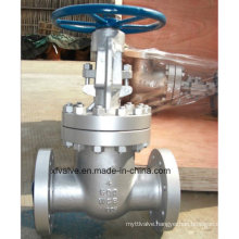 600lb Cast Steel Wcb Flange Connection End Gate Valve