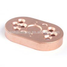 OEM high precision tolerance +/-0.05mm copper oval flange for Electronics