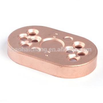 OEM tolerance +/-0.05mm copper flange spacer for electric heater
