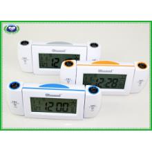 Reloj de alarma de proyección con temperatura interior