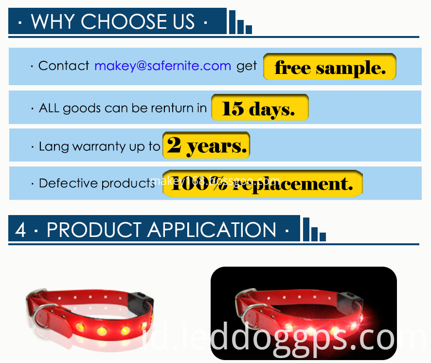 Flashing Led Pet Dog Collar