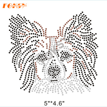 Madre de Bulldog Hot Fix Rhinestone Motif
