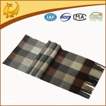 Classical Popular Plaid 100% Cashmere Scarf Men