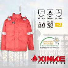 100% хлопок безопасности workwear зимние рабочие куртки для использования в промышленности