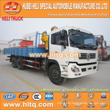 DONGFENG 6X4 12 tons straight arm truck mounted crane
